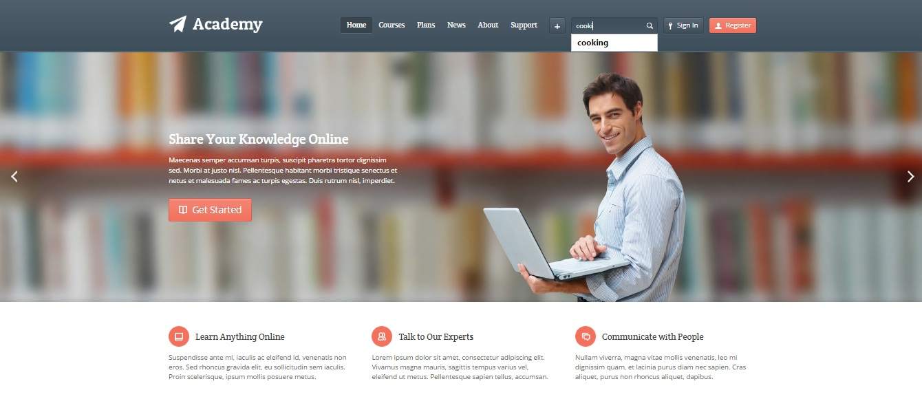 WordPress Theme: Academy