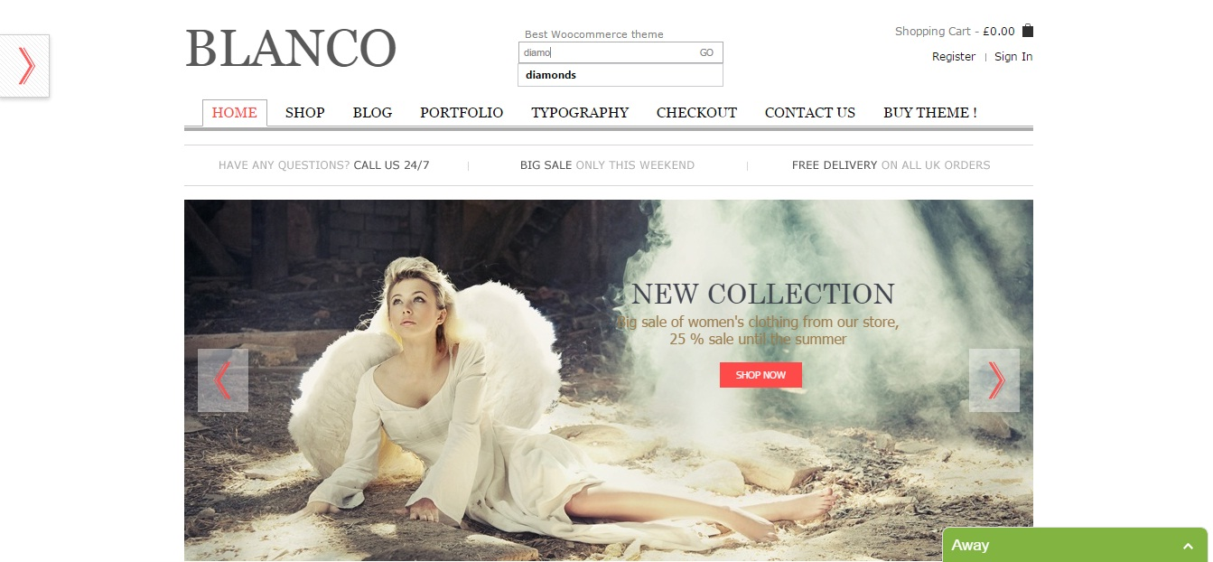 WordPress Theme: Blanco