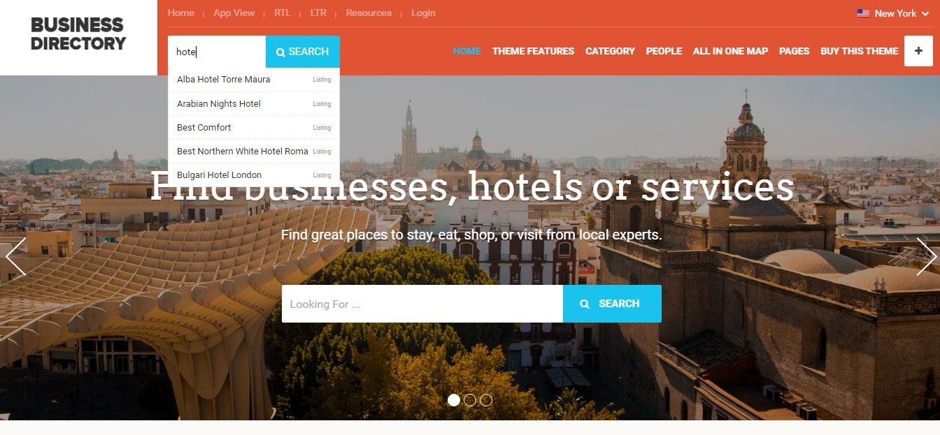 WordPress Theme: Business Directory
