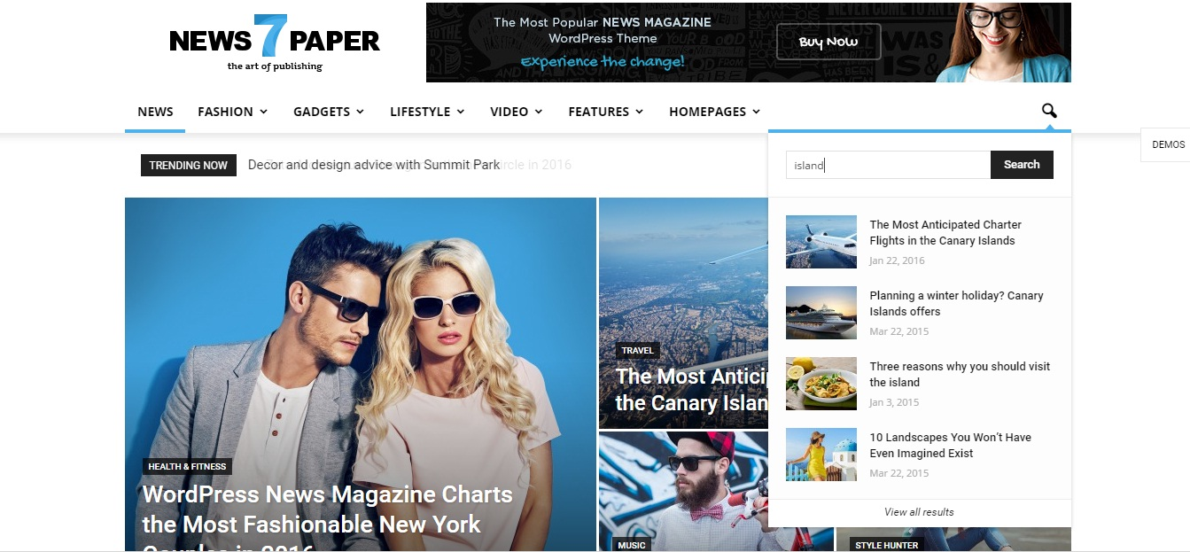 WordPress Theme: Newspaper