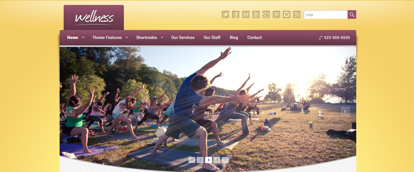 WordPress Theme: Wellness
