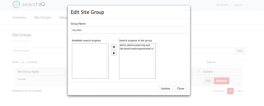 create cross-site groups