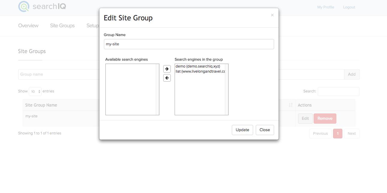 create cross-site group