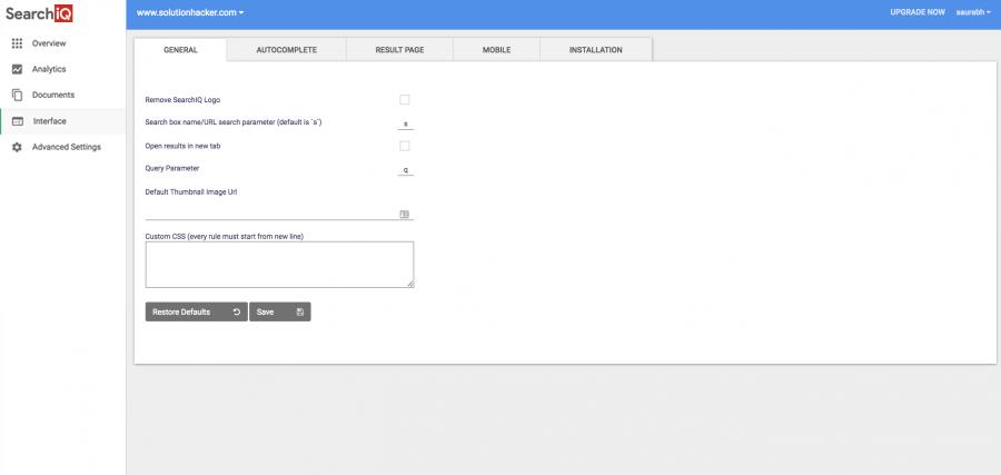 Non-Wordpress User Guide | SearchIQ